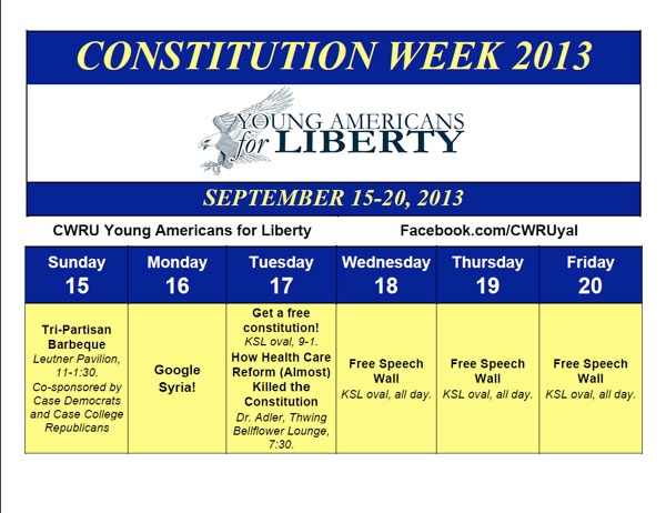 schedule for constitution week at CWRU