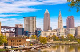 Landscape of the city of Cleveland