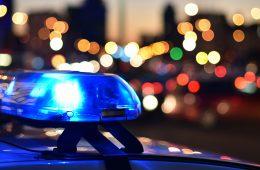 Image of police car lights