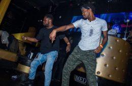 Photo of two men dancing