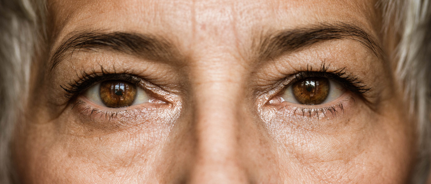 Photo of woman's face, focused on her eyes