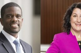 Photo compilation of photos of Melvin Carter and Suzanne Rivera