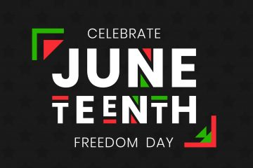 Juneteenth Freedom Day banner. African-American Independence Day, June 19, 1865. Vector illustration of design template for national holiday poster or card.