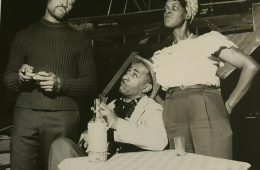Historic photo of Karamu House production with Minnie Gentry, Calvin Thomas and George Gould