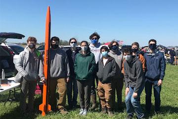 Photo of 2020-2021 Case Rocket Team at Tripoli Mid Ohio with rocket