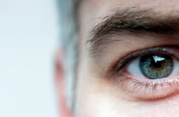 Close-up photo of a man's eye
