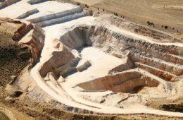Aerial photo taken of a phosphate mine
