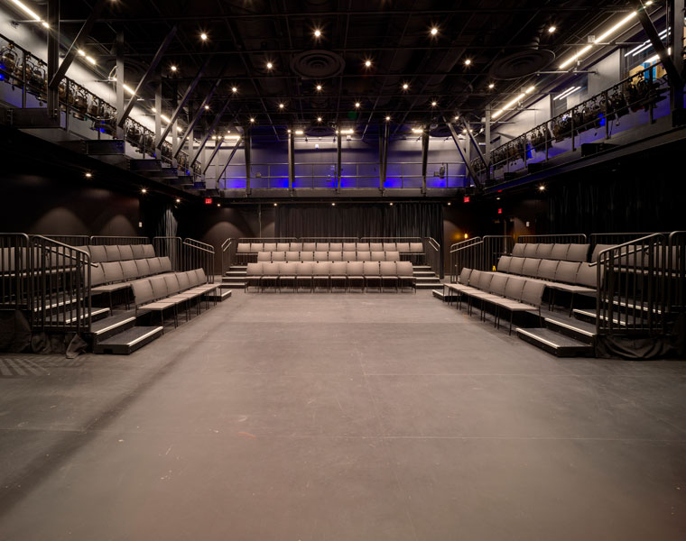 Photo of the Walter and Jean Kalberer Black Box Theatre
